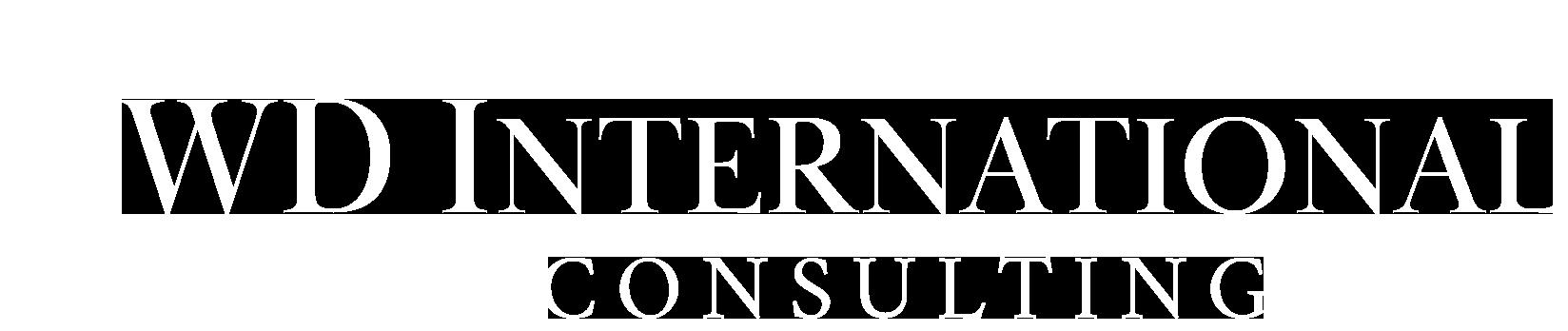WD International Logo white